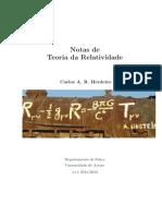 Notas Relatividade
