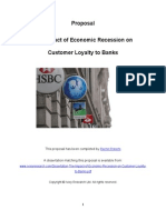92700980 Proposal the Impact of Economic Recession on Customer Loyalty to Banks