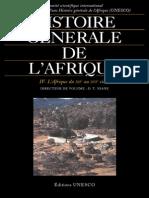 Histoire Générale de l'Afrique IV - L'Afrique Du XIIe Au XVIe Siècle
