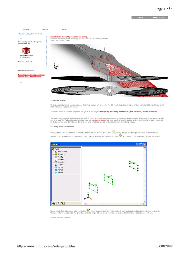 SolidWorks Aircraft Propeller Modeling