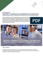 Diplomado en Gestión y Gerencia de Empresas de Servicios