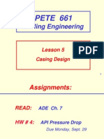 Drilling engineering - Casing Design