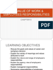 Topic 5 the Value of Work Employees Responsibilities