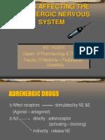Adrenergic DrugsI (Dr.ike)
