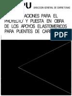 1982 Recomendaciones Para El Proyecto y Puesta en Obra de Los Apoyos Elastoméricos