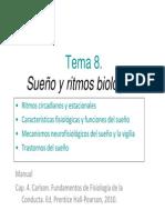 Tema 8 - Sueño y Ritmos Biologicos