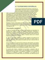 Conquista y Expediciones Españolas.
