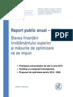 CNFIS Raport invatamant superior de stat 2013