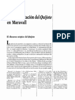 Gutiérrez Carbajo - La Interpretación Del Quijote en Maravall.
