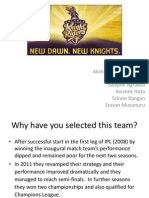 Success of Kolkata Knight Riders