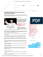 Papa Bento XVI Deve Morrer Dentro de Um Ano, Diz Jornal Italiano