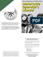 Texas DPS Motorcycle Operators Manual