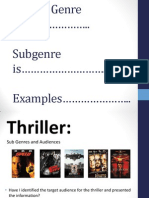 L2b. Thriller Subgenres Audience