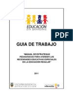 Guía de Trabajo - Manual de EStrategias Pedagógicas Paranecesidades Educativas