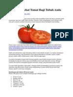 5 Manfaat Sehat Tomat Bagi Tubuh Anda