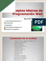 Conceptos Basicos Prog Web - Introduccion a HTML y CSS