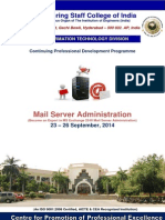 Mail Server Administration 23 -26 Sept 2014 Brochure