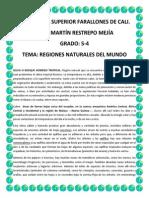 Regiones Naturales Del Mundo Tres