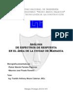 Analisis de Espectros de Respuesta en Managua