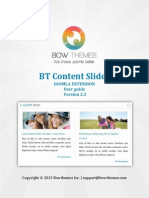 BT Content Slider User Manual v2.3