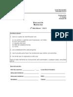 Iº Medio - Evaluación Unidad 4 Lenguaje - Narrativa