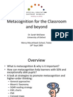 Metacognition Workshop S McAlwee 09
