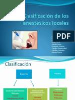 Clasificación de Los Anestésicos Localess (1)