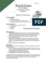Ms. Walker's Syllabus 2014-2015