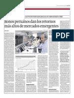 Bonos Peruanos Dan Los Retornos Más Altos de Mercados Emergentes_Gestión 24-09-2014