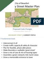 Boundary Street Master Plan presentation