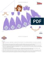 Disney Sofia the First 3d Papercraft Craf