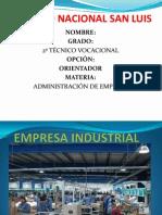 Que Es Una Empresa Industrial