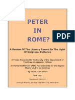 PETER IN ROME? A Review Of The Literary Record In The Light Of Scriptural Evidence