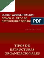 Sesion 10 Tipos de Estructuras Organizativas