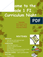 curriculum night grade 1fi-2014