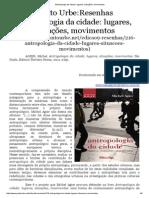 REsenha Antropologia Da Cidade_ Lugares, Situações, Movimentos