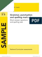 SAT KS2 English 2013 Specimen Grammar Punctuation Spelling Marking Scheme