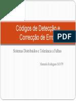 Códigos de Detecção e Correcção de Erros