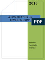 Project on Retail Banking With Special Reference to YES BANK