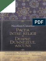 Nicolaus Cusanus-Pacea intre religii