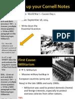 WEBNotes - Day 1 - 2014 - WorldWarI - Causes I