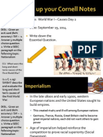 WEBNotes - Day 2 - 2014 - WorldWarI - Causes II