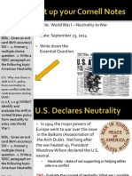 WEBNotes - Day 4 - 2014 - US Neutrality and Involvement