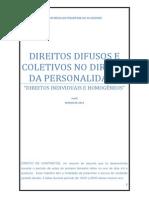 Direitos Difusos e Coletivos No Direito Da Personalidade.doc