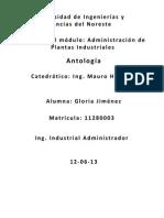 Antología Adminsitracion de Plantas Industriales
