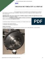 Solución Problemas Vibracion Freno Bmw e36