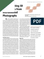 Ilya Shlyakhter Et. Al. - Reconstructing 3D Trees From Instrumented Photographs