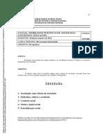 SOA046 - Abordagens Temáticas Em Sociologia - Conceitos e Aplicações 2014-1