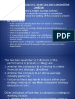 Strategic management- analysing a company's resources and copetitive position