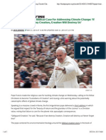 Pope Francis Makes Biblical Case For Addressing Climate Change
